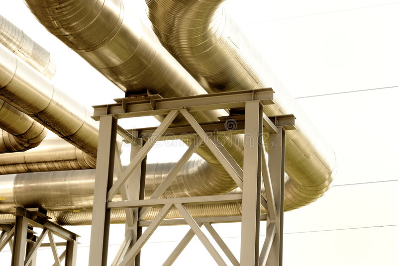 Download Steel Pipe-line Is Photographed On Sky Background Royalty Free Stock Photo - Image: 8773965