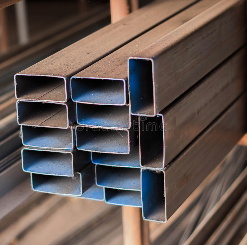 Steel pipe. On the shelf stock images