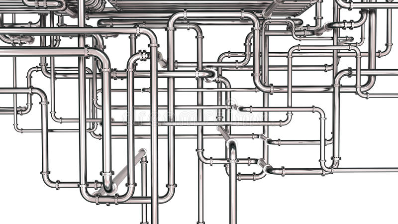 Steel pipeline background stock illustration