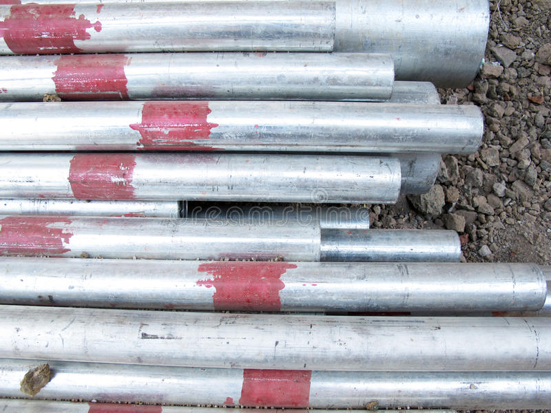 Steel Pipes royalty free stock image