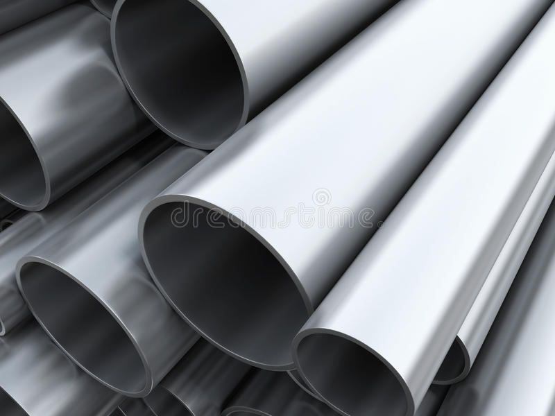 Steel pipes royalty free stock photography