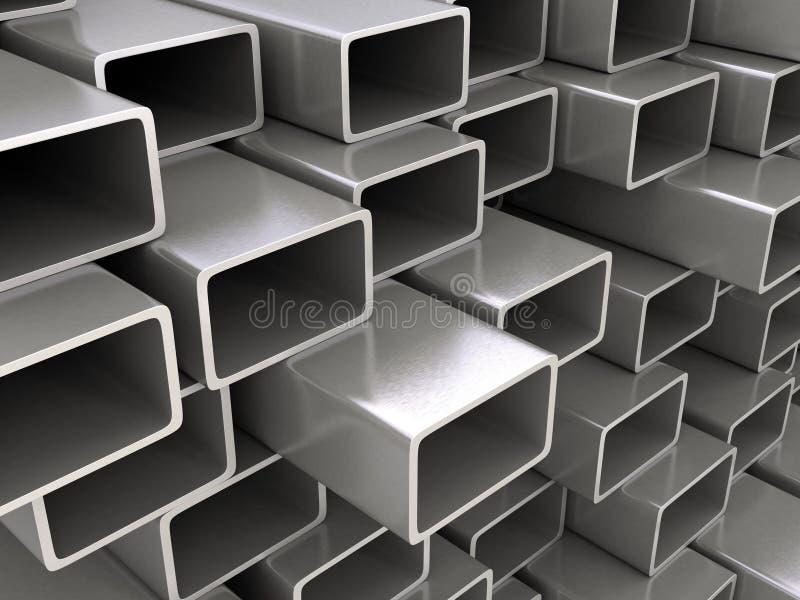 Steel pipes vector illustration