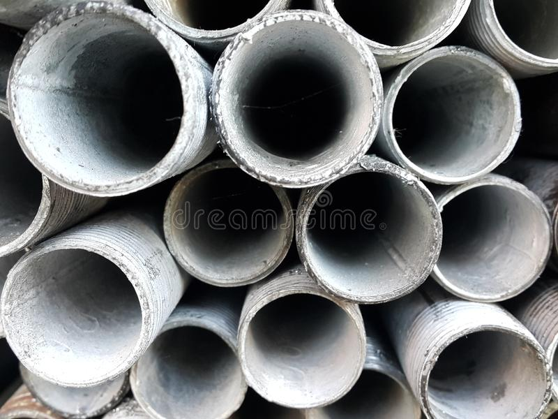 Steel pipes stock images