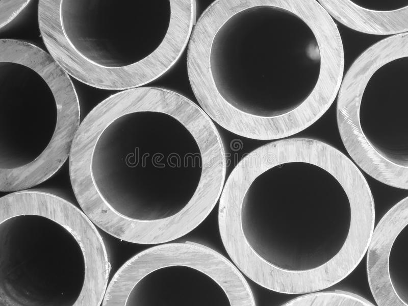 Steel pipes - Metal background - Stock Photos stock image