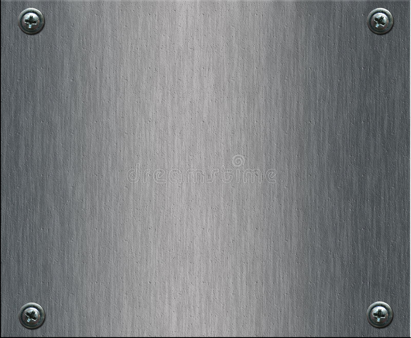Steel plate with bolts stock photography