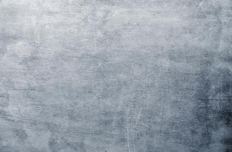 Steel plate shabby, old metal background for design. Dirty sheet metal texture, silver aluminum or steel surface pattern stock photos