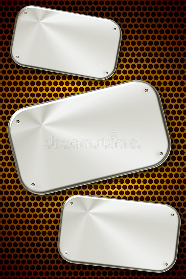 Steel plates stock photo