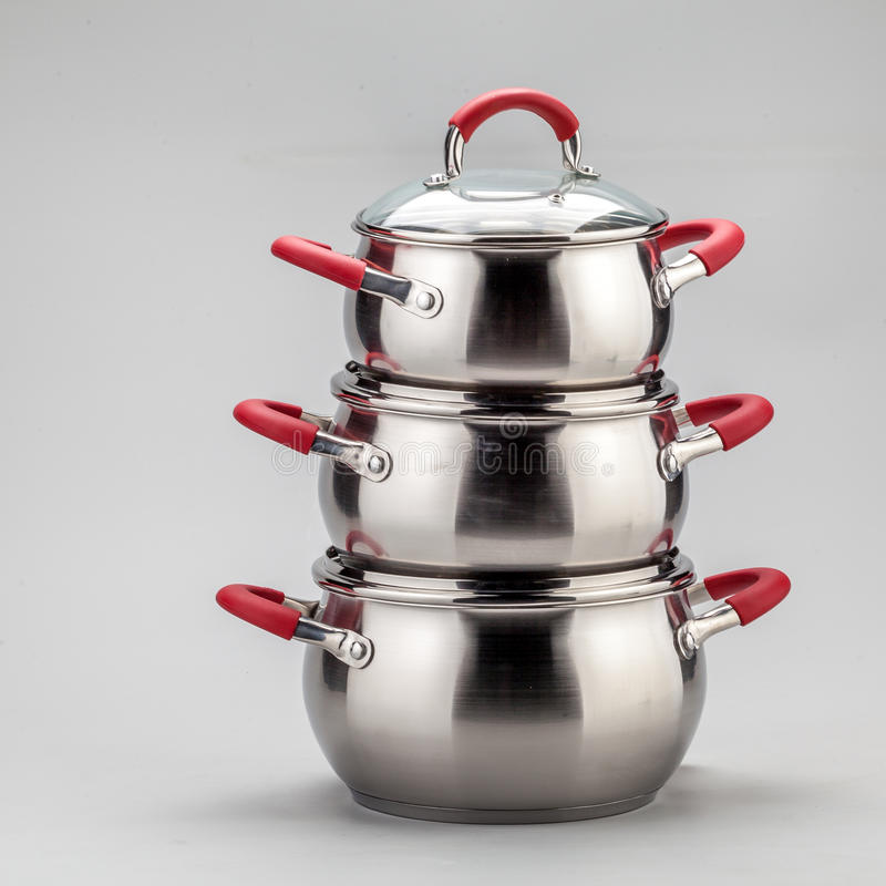 Download Steel pots stock photo. Image of nobody, silver, sinle - 35500116
