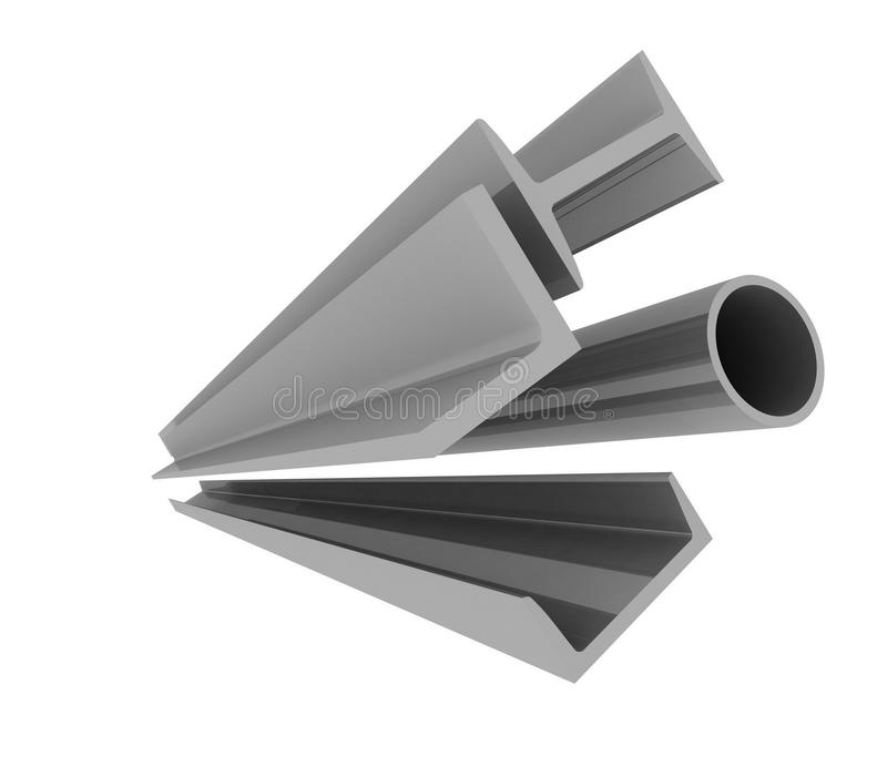 Steel profiles vector illustration