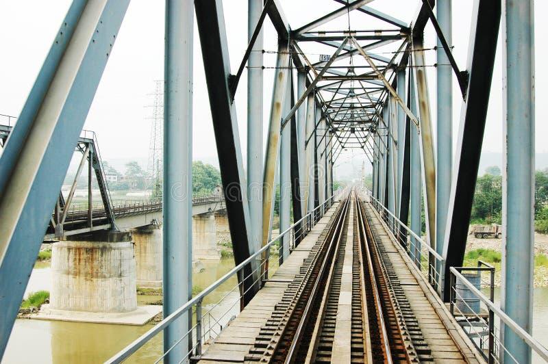Steel Railway Bridge Royalty Free Stock Image