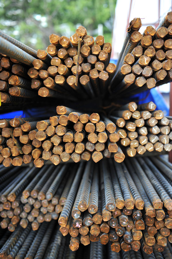 Steel re-bar royalty free stock photos