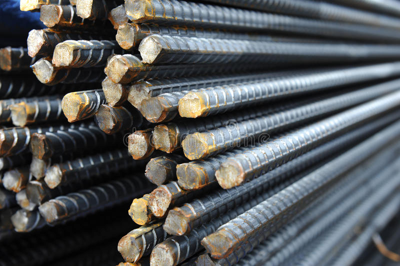 Steel re-bar stock images