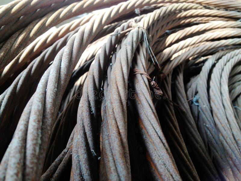 Steel reinforcement stock image