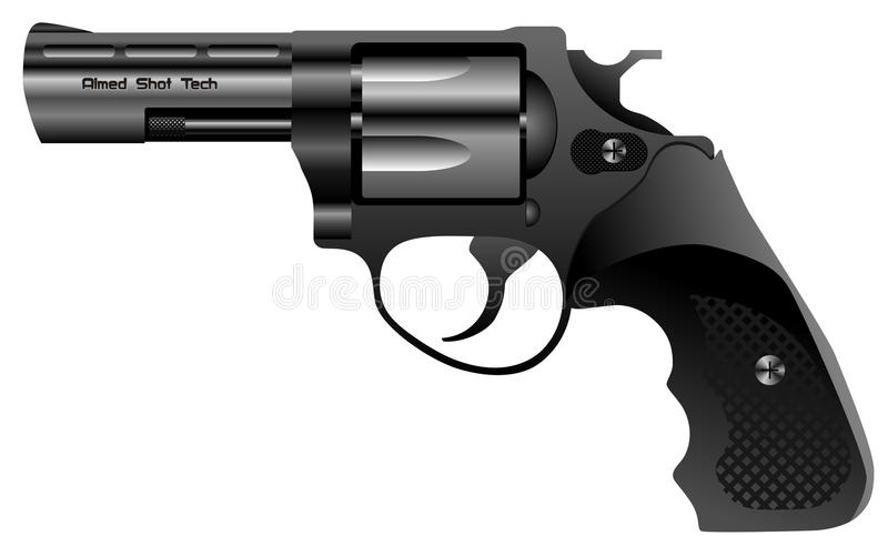 Download Steel revolver vector stock vector. Image of criminal - 12667487