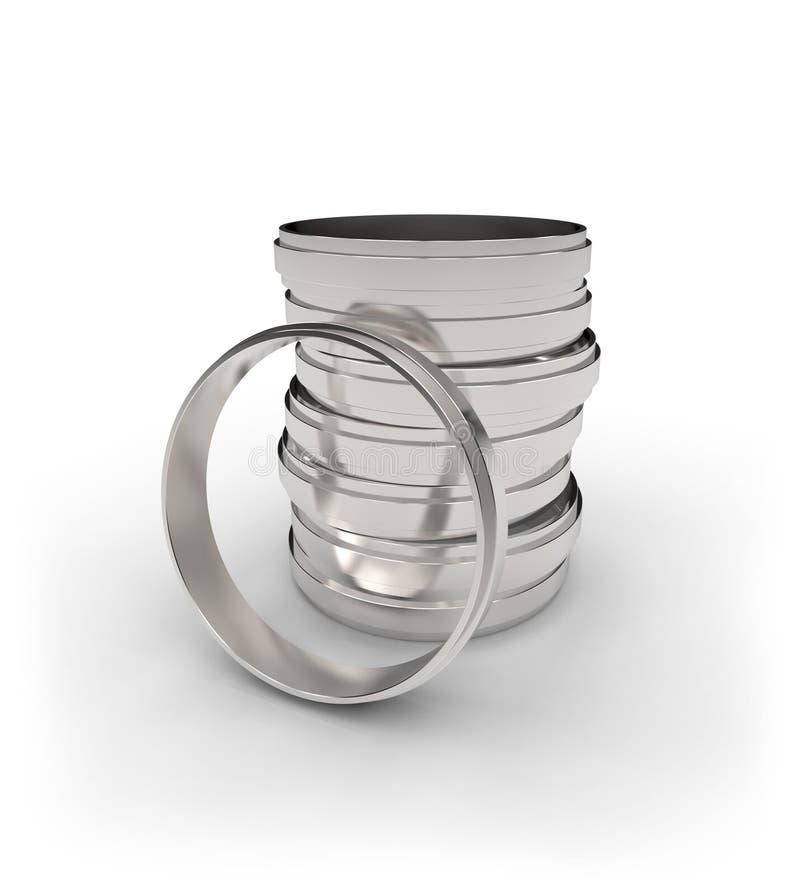Steel Rings Stock Photos