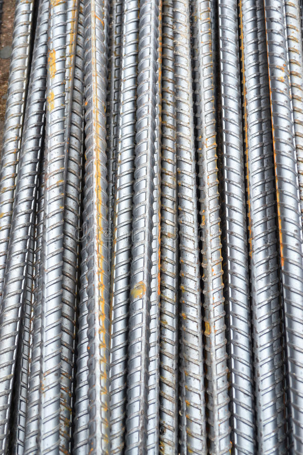 Steel rod texture and background. Group royalty free stock images