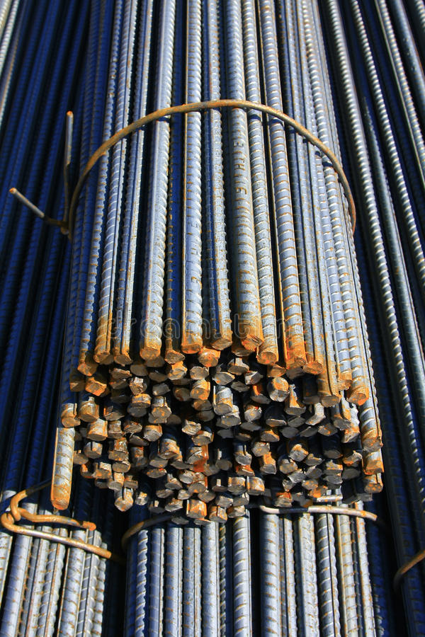 Download Steel rods stock photo. Image of construct, batch, poles - 17825610