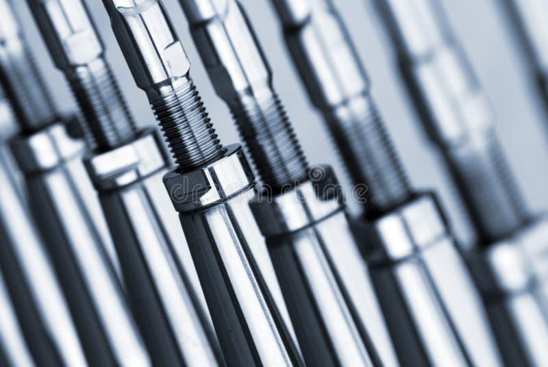 Steel rods stock photo