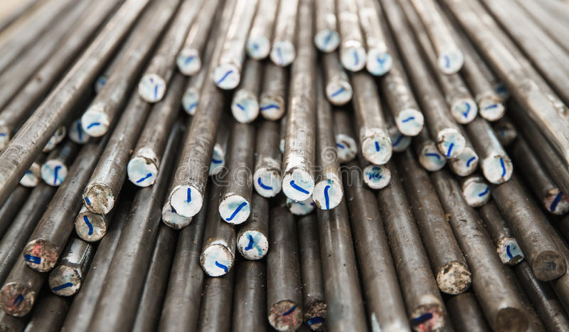Steel Rods & bar royalty free stock photo