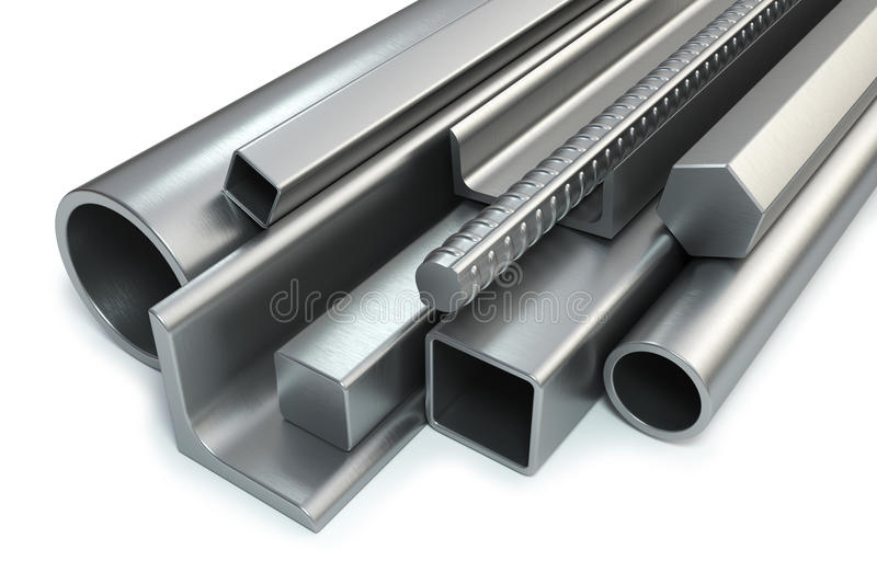 Steel rolled products vector illustration