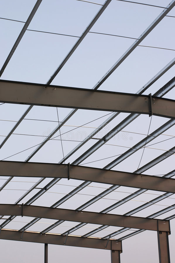 Steel roof stock images