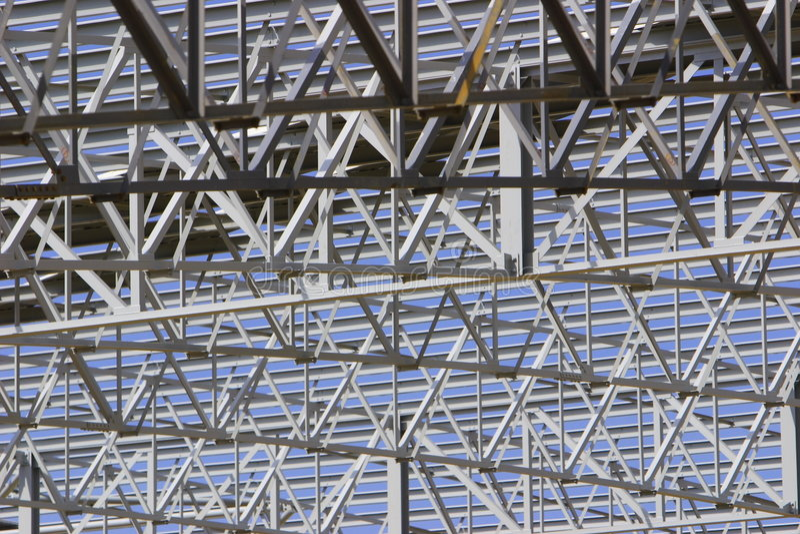 Steel roof stock image