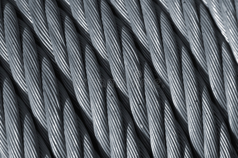 Download Steel rope stock image. Image of silver, lifting, coil - 4335957