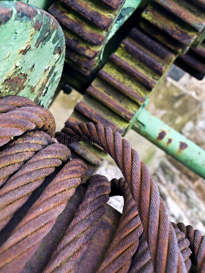 Download Steel Rope Wire And Cogs Industrial Stock Image - Image of rust, plant: 7641115