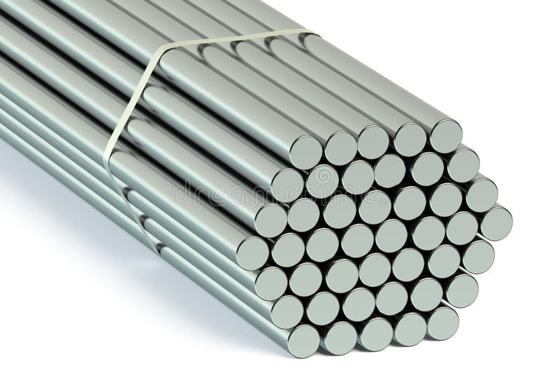 Steel Round Bars royalty free illustration
