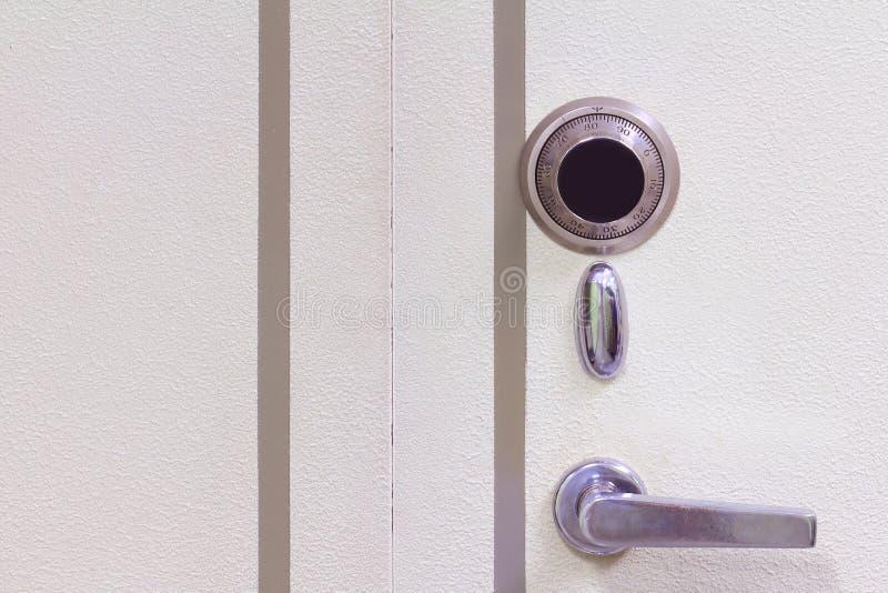 Download Steel safe door close-up stock image. Image of finance - 26563015