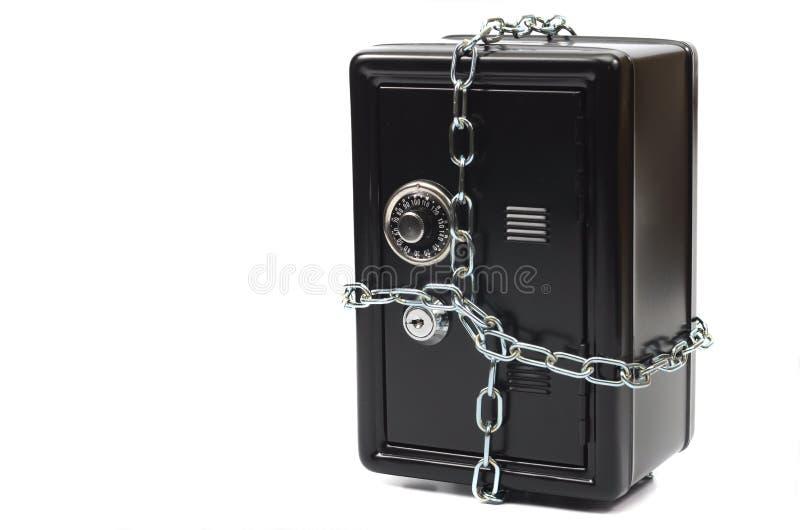 Steel safe with money , money saving concept. stock photos