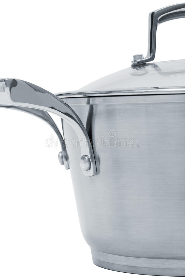 Steel saucepan royalty free stock image