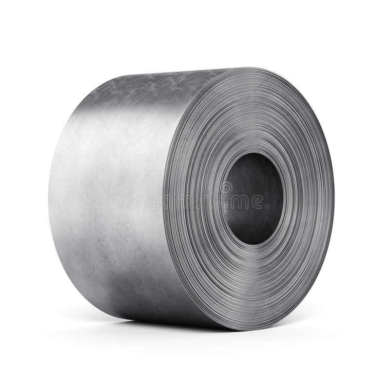 Steel sheet rolled into a roll vector illustration