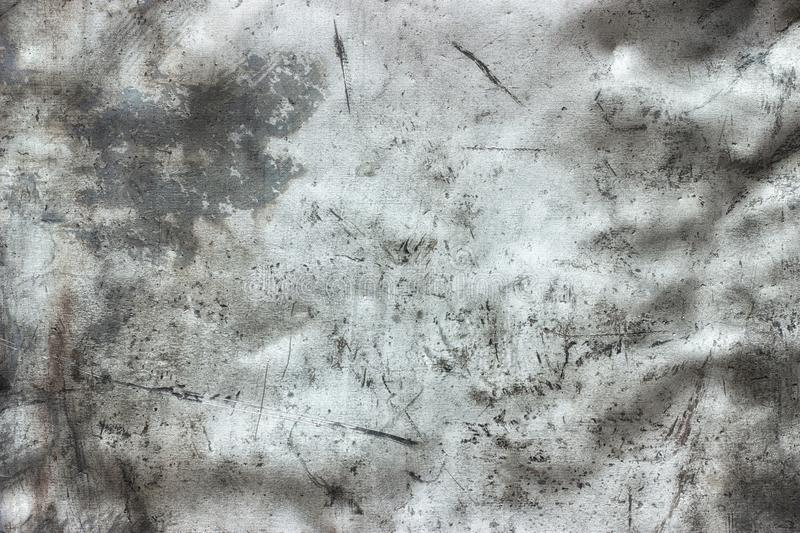 Steel sheet sanded with emery, worn metal background. Silver metal background, old stainless steel texture royalty free stock photography