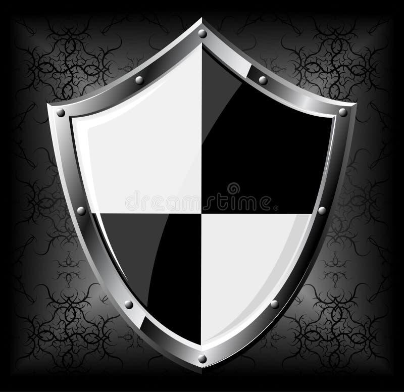 Steel shield stock illustration