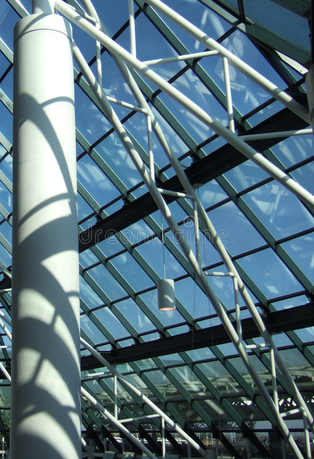 Steel and sky and glass royalty free stock photo