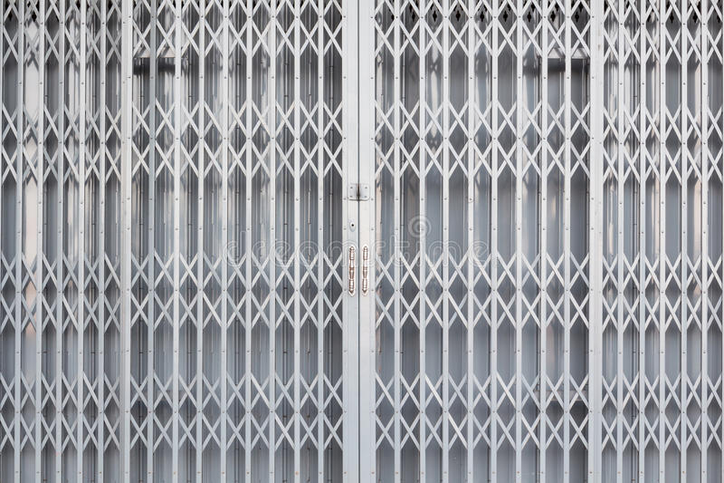 Steel Sliding Door Stock Image Image Of Rusty Close