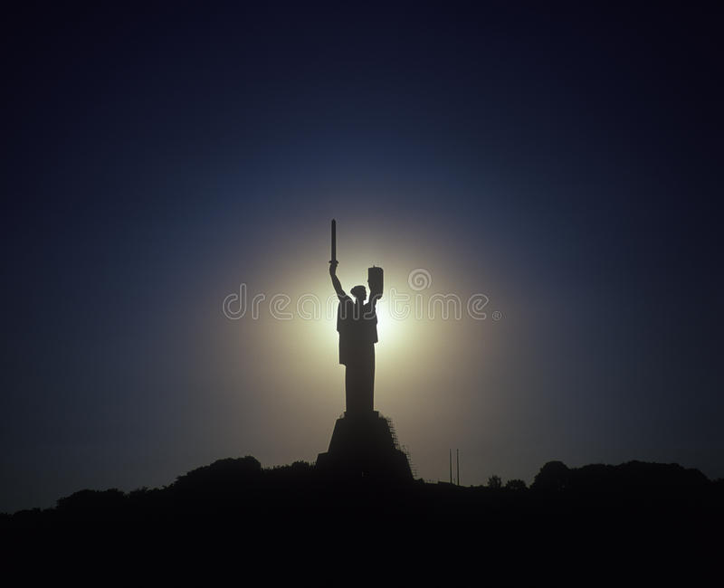 Download Steel Statue To Motherland. Kyiv, Ukraine. Stock Image - Image: 15948195
