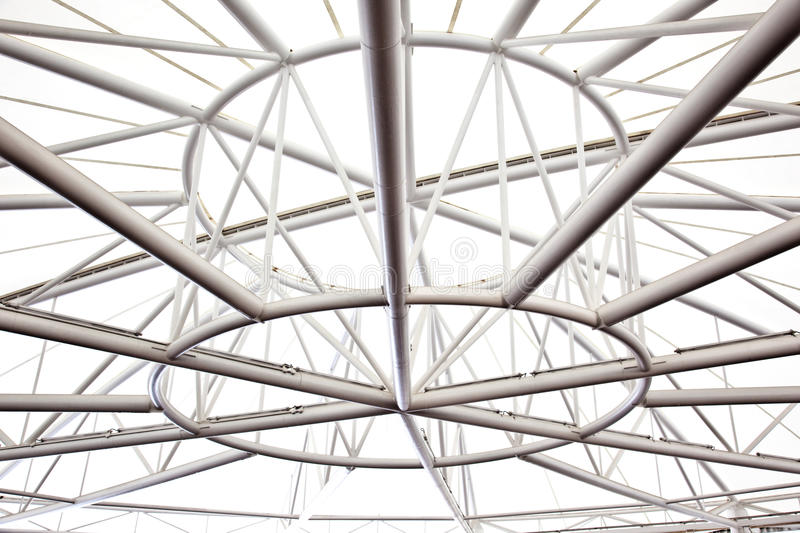 Steel structure. A steel structure supporting the roof of a building royalty free stock photography