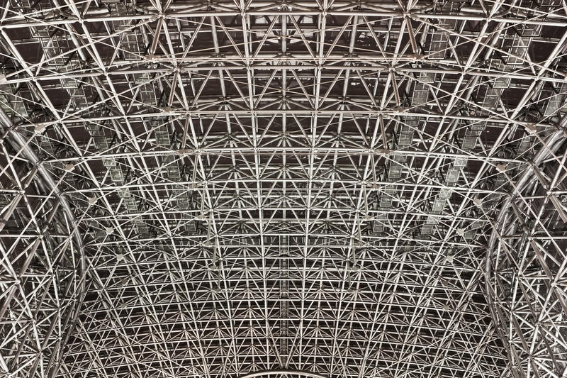 Steel Structure. Of a Train Station, Japan royalty free stock photo