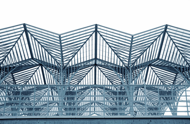 Steel structure. Cityscape abstract view of a Steel structure royalty free stock image