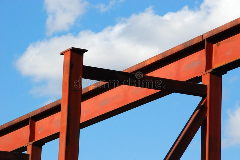 Steel structure. Under blue sky royalty free stock image