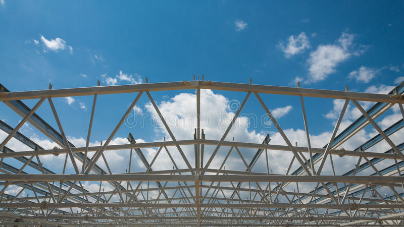 Steel structure construction site