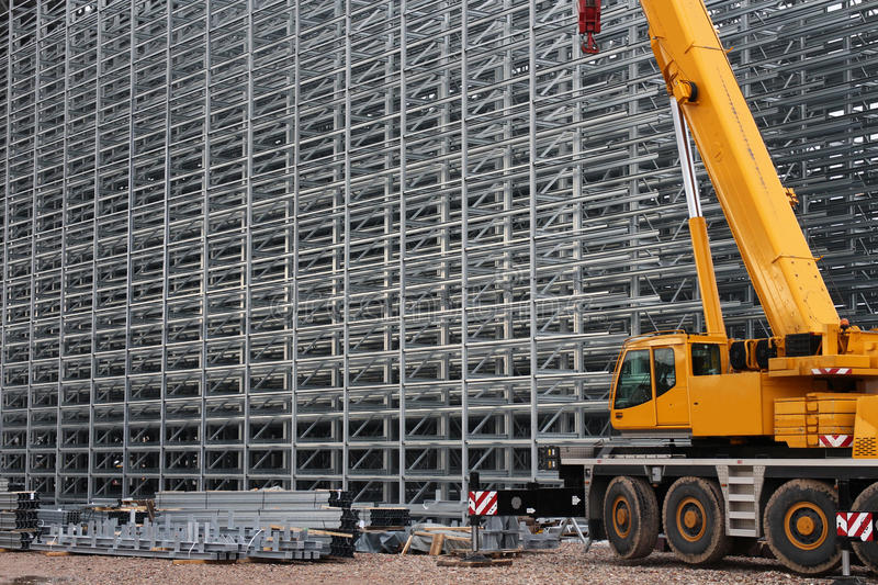 Download Steel structure and crane stock photo. Image of structure - 28525768