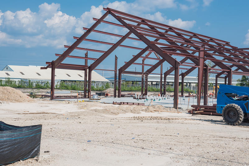 Steel structure factory stock image
