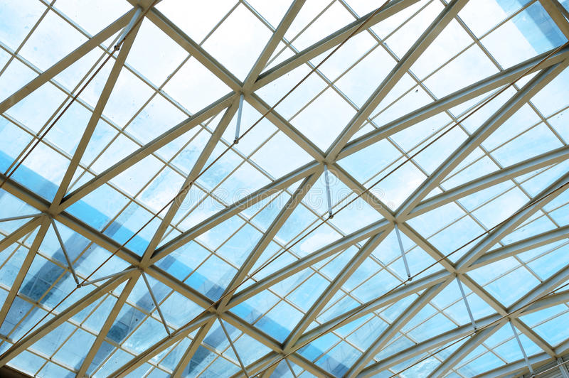 Download Steel Structure And Glass Roof Stock Image - Image: 20468159