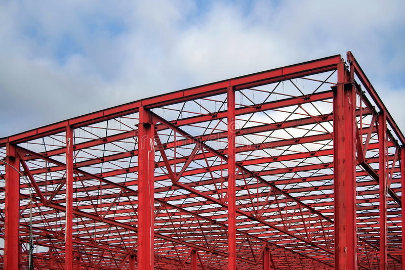 Industrial hall. Steel Structure royalty free stock photo