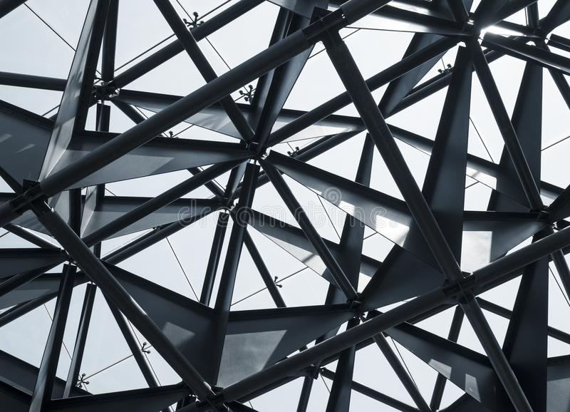 Steel structure Modern Building Architecture abstract. Construction royalty free stock images