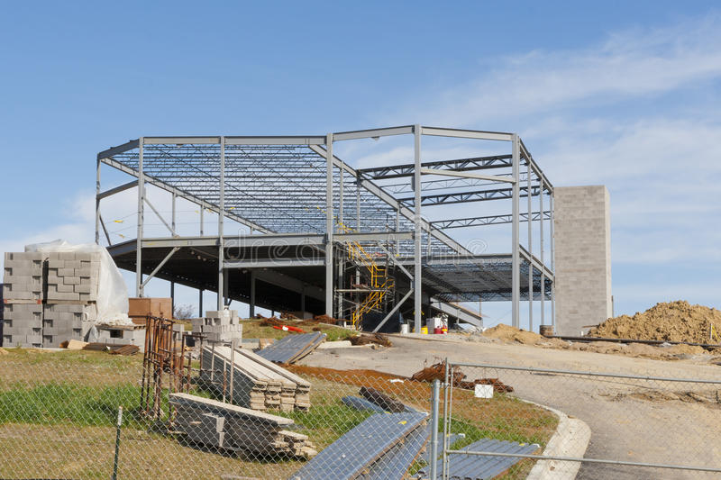Steel structure of a new commercial building