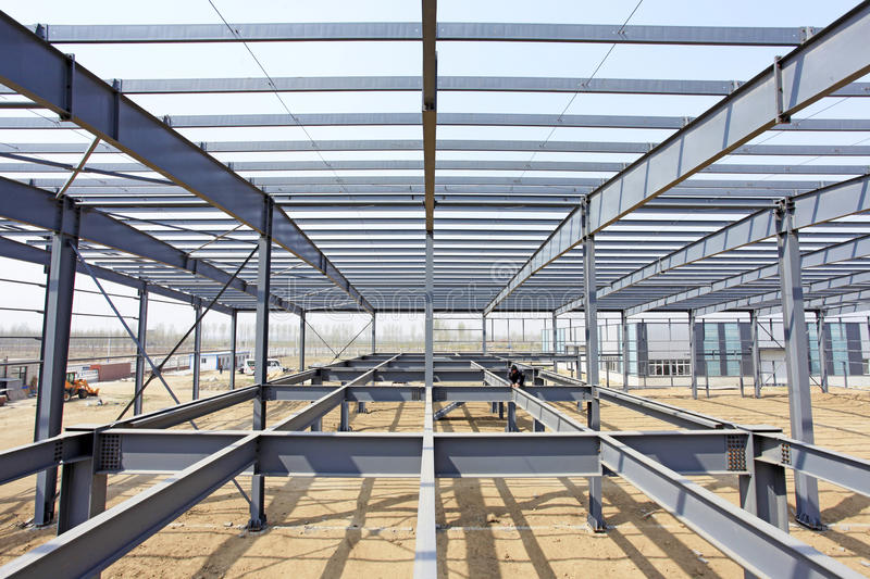 The steel structure. Is under construction royalty free stock image